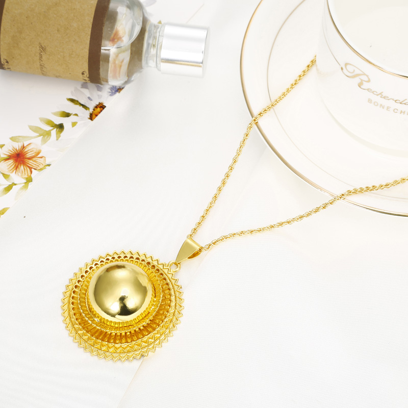 Ethiopia Shamty Ukuran Besar Bridal Jewelry Set Untuk Wanita Afrika - Perhiasan fashion - Foto 5