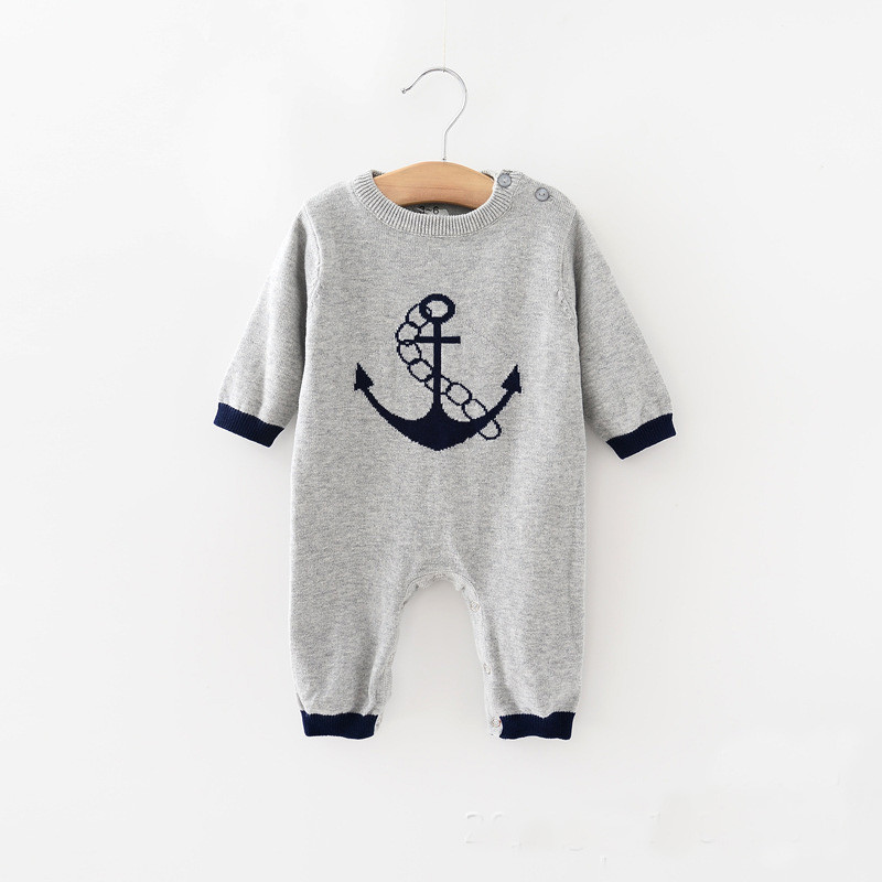 2017 New fashion winter Infantil girls rompers kids clothes jumpersuit knitted long sleeve casual style outfit boy rompers