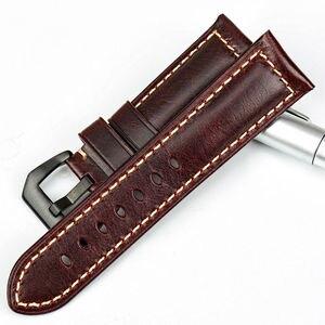 Image 2 - MAIKES più venduti accessori per orologi cinturini Italiano in pelle vintage della vigilanza della fascia della cinghia di cuoio per Panerai braccialetto di vigilanza