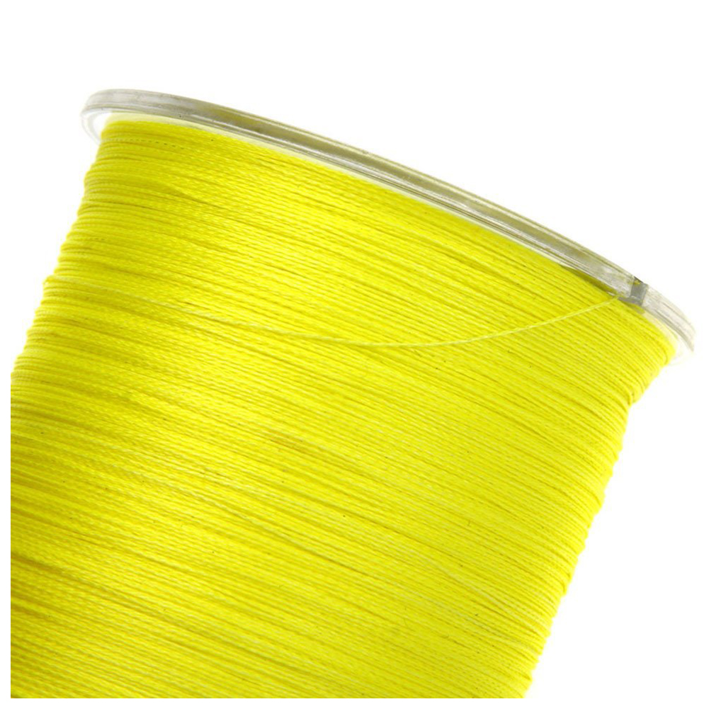 500M 50LB Colorful 4 Strands Multifilament PE Braid Fishing Line (Yellow)