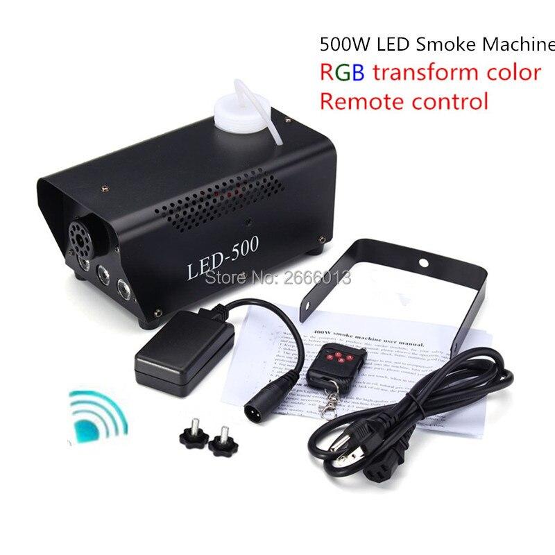 Newest Best quality RGB LED Wireless Smoke Machine Remote control 500W LED Fog machine For DJ Disco wedding Party Club Fogger