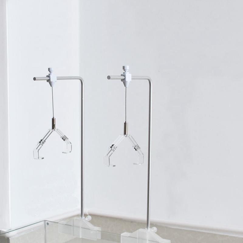 2 pcs aluminium alloy aquarium lamp holders hangers 40*20cm adjustable with clamps for fish tank marine tank fishtail braid with hair accessory