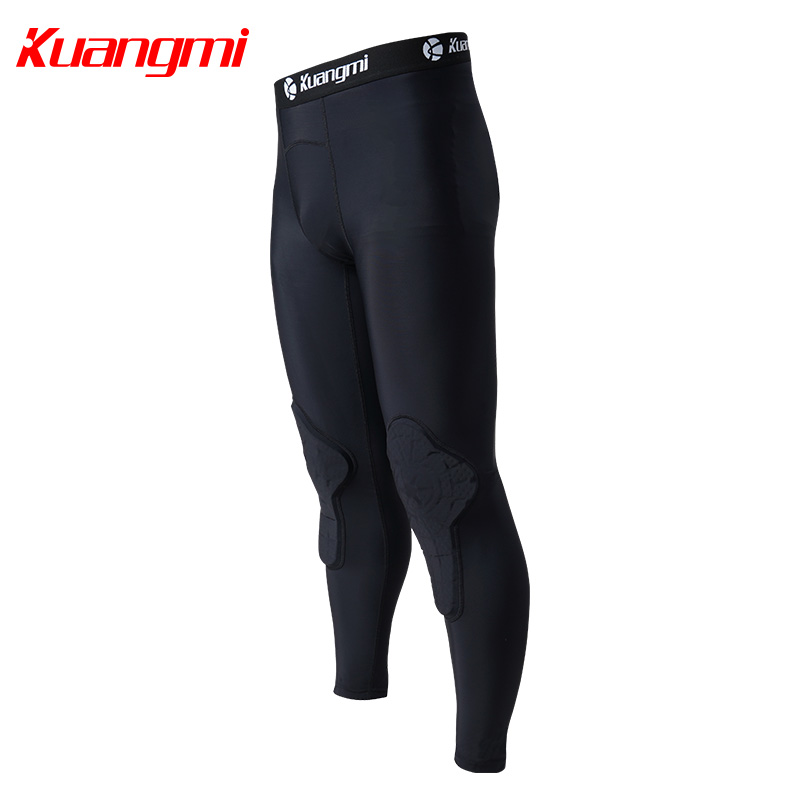 Kuangmi Men Gym Clothing Fitness Sportswear Compression Tights Suits Running Sport Tight Jogging T shirt and Pants Set Clothes - 4