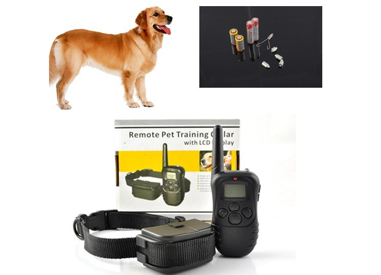 Pet Dog Training Collar 998D 300M LCD 100LV 300 Yard Level Electric Shock Vibration Remote without Battery & Retail Package compatible bare bulb lv lp06 4642a001 for canon lv 7525 lv 7525e lv 7535 lv 7535u projector lamp bulb without housing