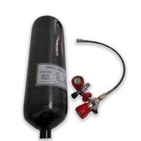ACECARE pcp air tank hpa 4500psi carbon faser zylinder 6.8L m18 * 1 5 CE für paintball maske mit manometer ventil AC368101-in Feuer-Atemschutzmasken aus Sicherheit und Schutz bei