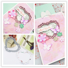 AZSG Heart-Shaped Cutting Dies For DIY Scrapbooking Decoretive Embossing Stencial Decoative Cards Die Cutter