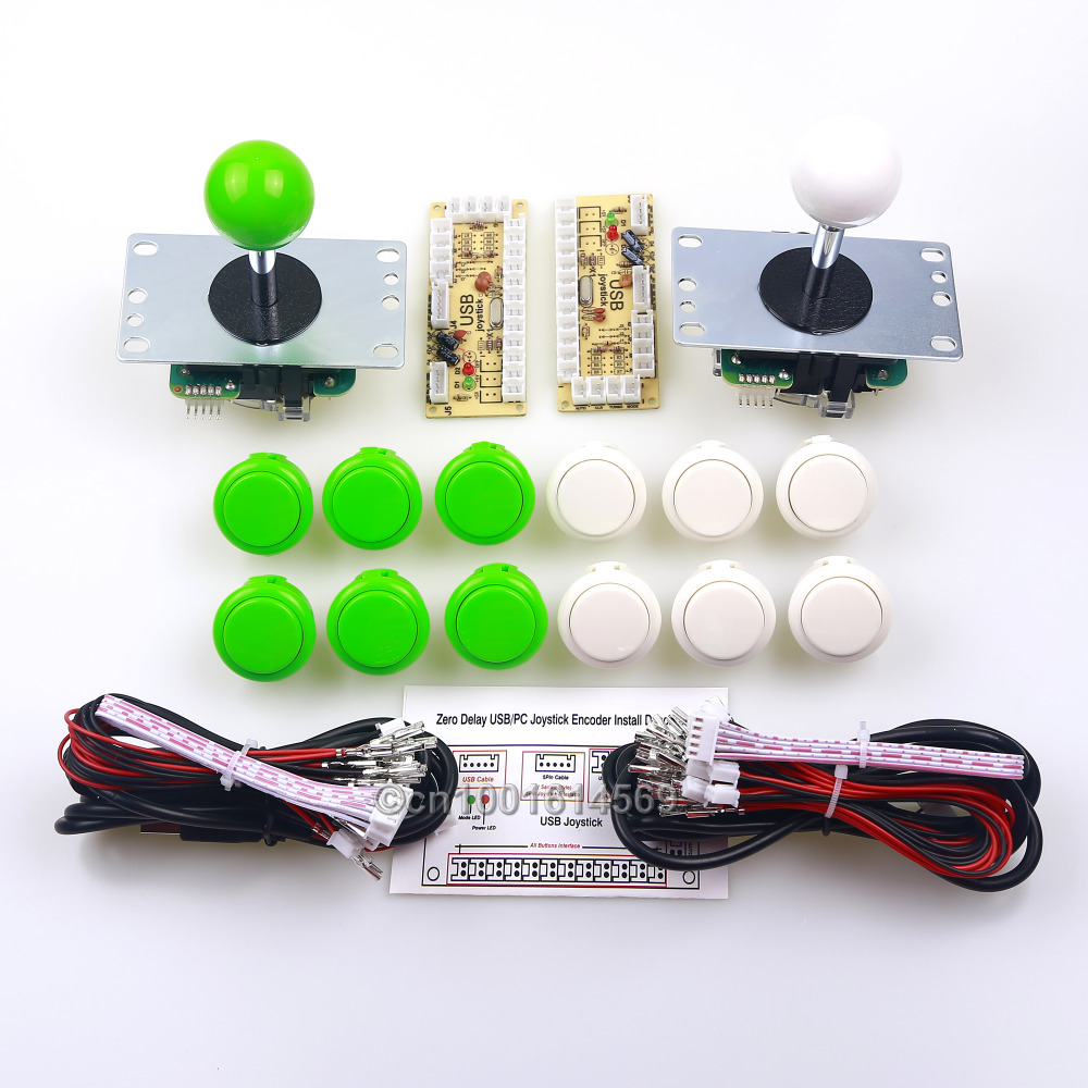 New Arcade Sanwa DIY Kit Zero Delay USB Encoder For PC Sanwa Arcade Joystick + 12 x 30mm Sanwa Button OBSF-30 For MAME Games DIY