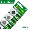 AE Button battery 5 Pcs 3V Lithium Coin Cells Button Battery CR1632 LM1632 BR1632 ECR1632 DL1632 EE6224 56%off