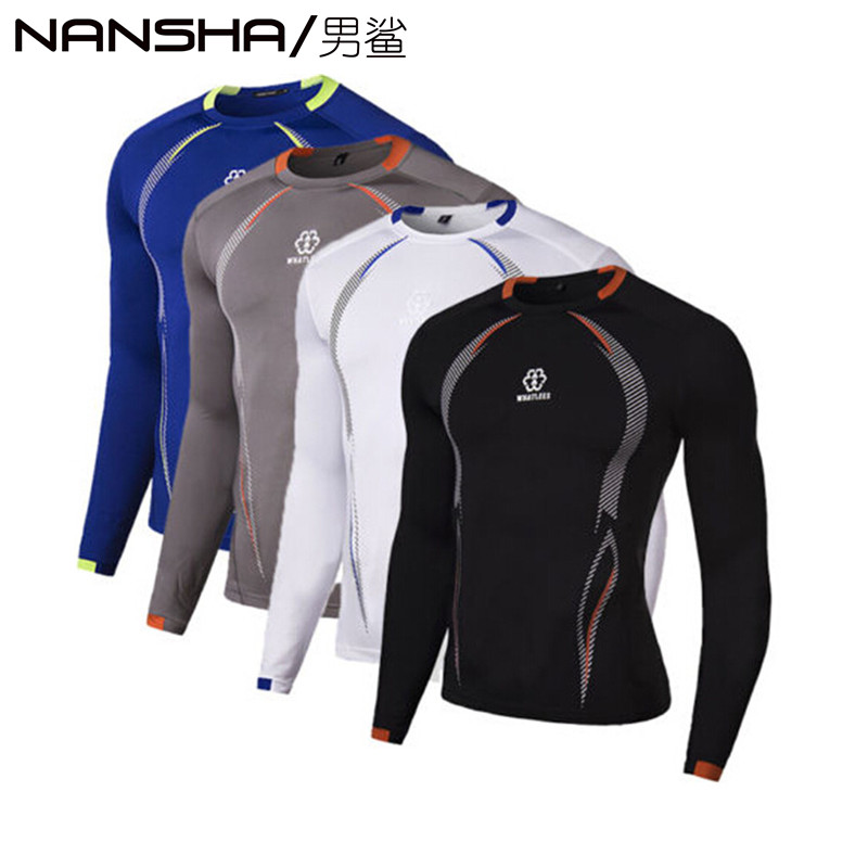 Mens Compression Base Layer Tight Top Shirt Under Skin Long Sleeve T-Shirts HOT Men T-Shirt NANSHA 2017 M-XXL