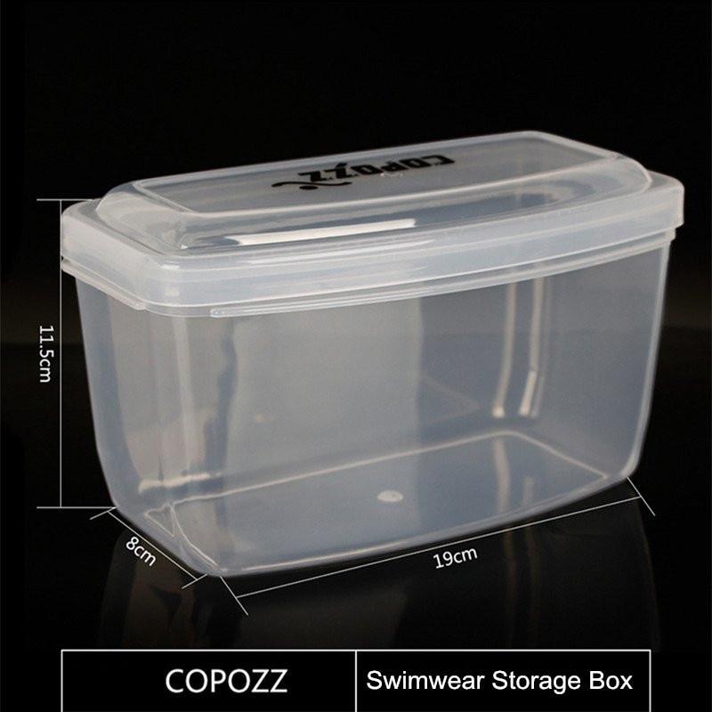 COPOZZ Transparan Kolam Diving Goggles Storage Box PP Kacamata Renang - Olahraga air - Foto 6