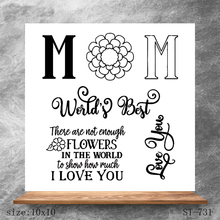 ZhuoAng I LOVE YOU Transparent Seals for DIY scrapbooking photo album Clear Stamps 10*10cm