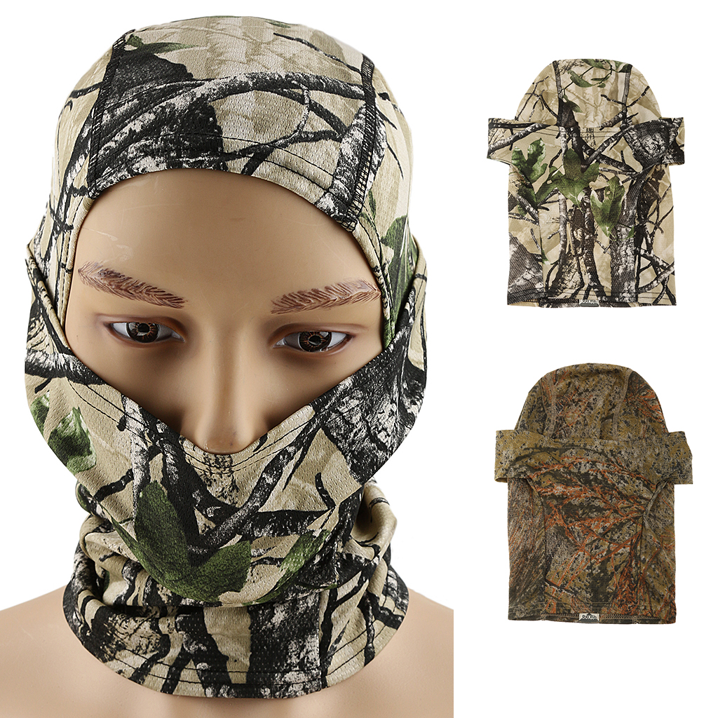 Tactical Outdoor Sports Balaclava Scarf Hunting Cycling Face Mask Camo Breathable Accessories for CS War Game Fishing Cycling