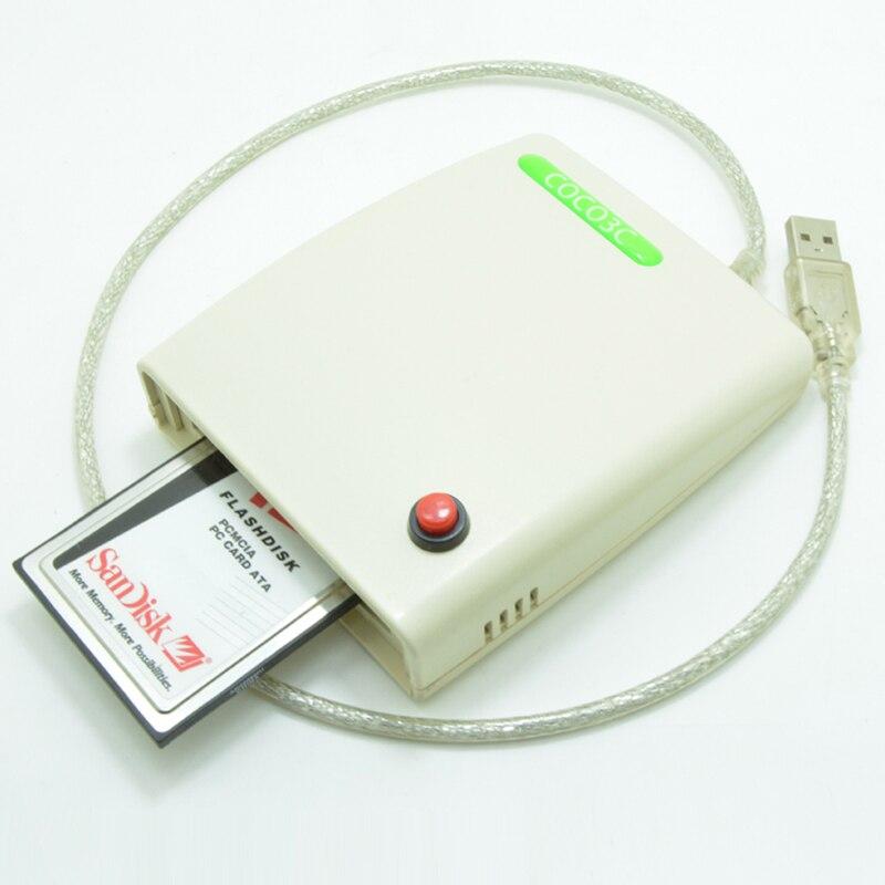 Livraison gratuite ATA PCMCIA lecteur de carte mémoire Card CardBus 68PIN vers USB adaptateur convertisseur avec le commutateur et le boîtier
