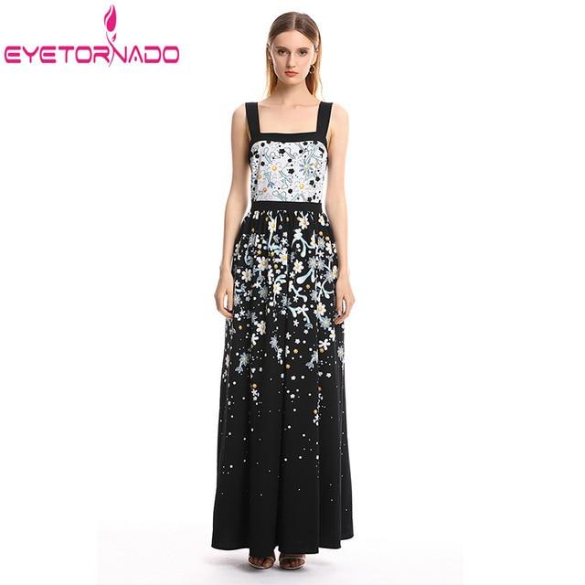 Women Dress Long Pendulum Summer Floral Print Sexy Spaghetti Strap Bohemian Beach Dresses Slim Tunic Casual Maxi Boho Dresses