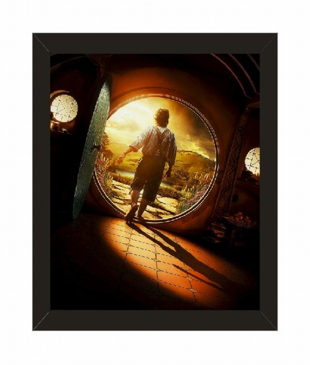 home decor the hobbit series movie poster with picture frame 10x8 inches black framed wall art 9003