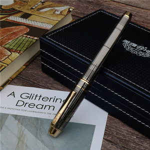 Image 5 - fountain pen Fashion new style Dark grey ink pen Office and learning luxury writing metal pen