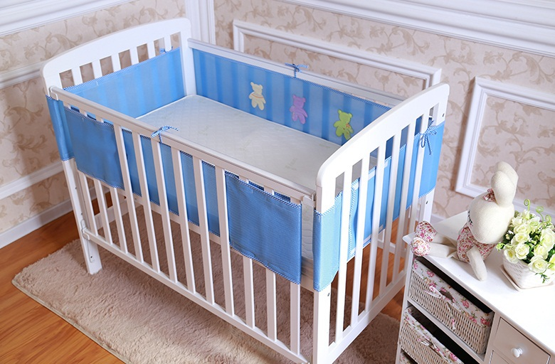 Aliexpress Buy New Breathable Elastic 3D Mesh Baby Crib Bumper Bedding Bumpers Cot Sets Free Shipping From Reliable Green Suppliers