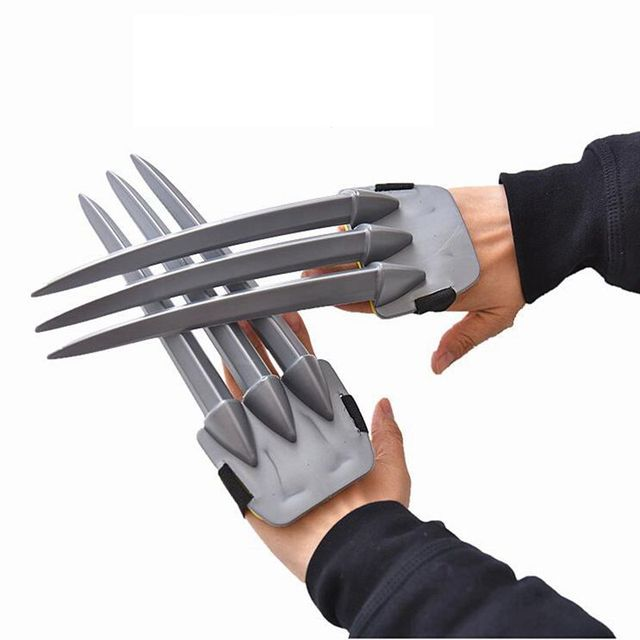 2pcs X-men Wolverine claws 25cm ABS Action Figure Toys Logan claws plastic superhero weapons mask Cosplay Children Toy Gifts