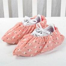 1 пара утолщенных многоразовых эластичных чехлов для обуви; Домашние Противоскользящие тапочки для студентов; машинная комната с Фламинго; пыленепроницаемые Чехлы для ног