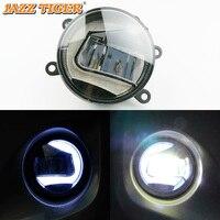 2 in 1 LED Daytime Running Light Car LED Fog Lamp Projector Light For Ford Focus Ecosport Fiesta Mondeo Fusion Explorer Mustang