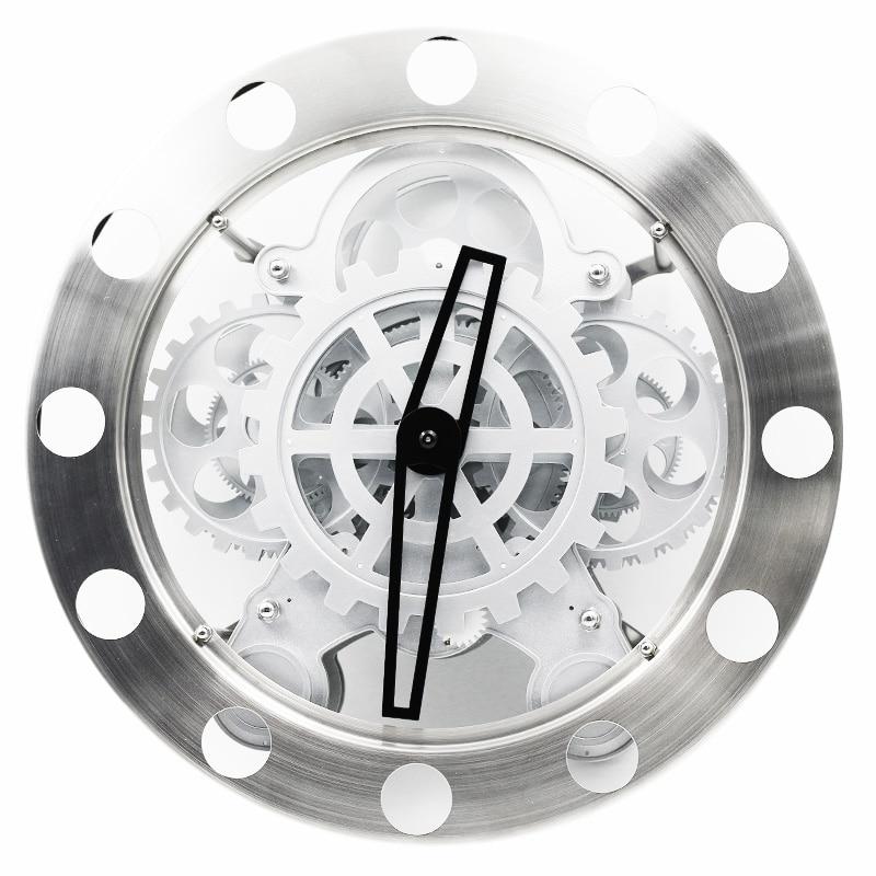 40c183eb7 الإبداعية ديناميكية كبيرة والعتاد ساعة حائط الأوروبية نمط معدن حركة الساعات  للمنزل الحديث ديكور تصميم ساعة حائط duvar الساعاتي