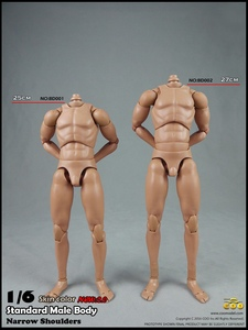Image 2 - BD001/BD002/BD003/BD004/BD009/BD010 1/6 мужские стандартные мышцы тела узкие плечи 2,0 Мужской 27 см/25 см модель для 12 фигуры