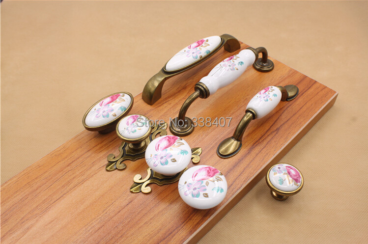 Vintage Ceramic Cabinet Knobs And Handles China Flower Furniture Hardware  Handle U0026 Knob In Cabinet Pulls From Home Improvement On Aliexpress.com |  Alibaba ...