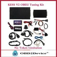 DHL Бесплатно Новый ECU Чип-Тюнинг Инструмент KESS V2 2.25 OBD2 менеджер Тюнинг Комплект Нет Ограничения Маркеров Kess V2 для Автомобиля на Нескольких языках