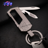 Car Pendant Multifunctional Key Chain Simple Metal Key Ring For Business Gifts For Land Rover Range