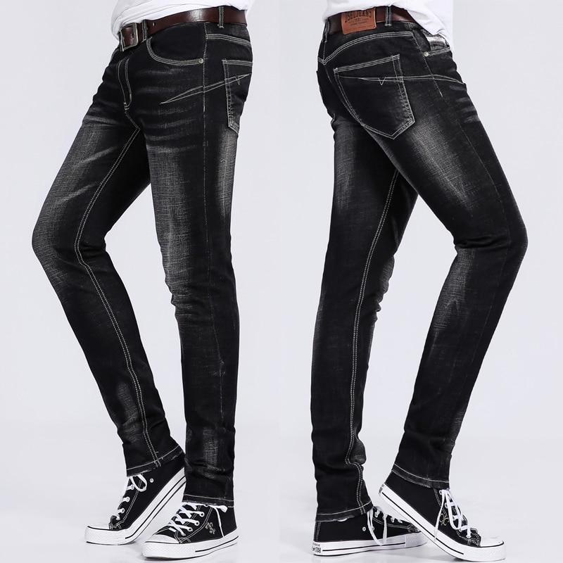 DSEL Brand elasticity black jeans brand design men skinny jeans high quality slim fit denim trousers men pants size 30 to 40