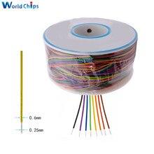 Fio de envolvimento 250m 30 awg B 30 1000 8 cor awg30 cabo breadboard jumper isolamento colorido