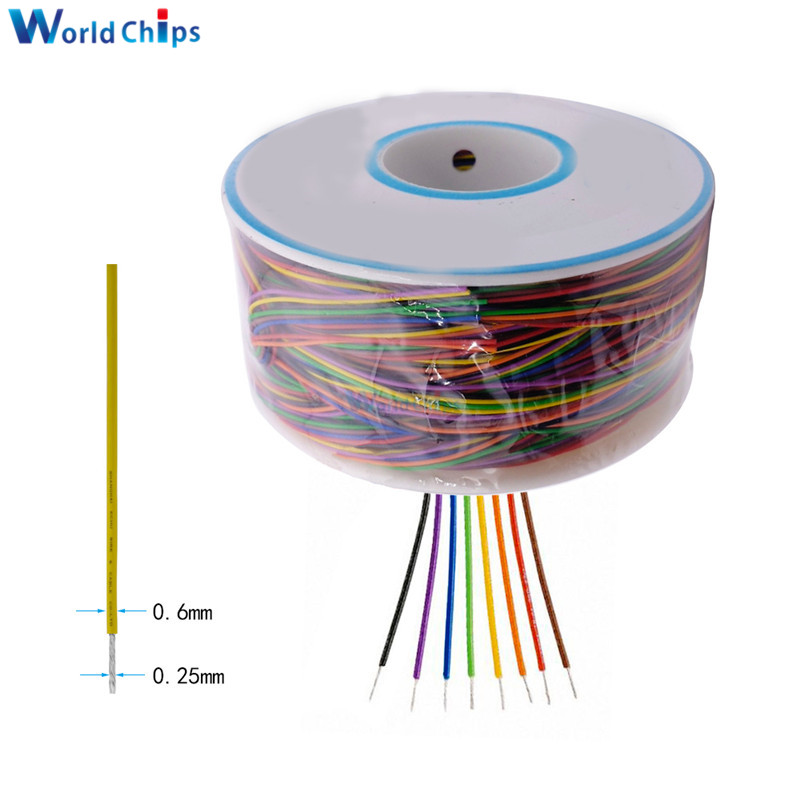 Wrapping Wire 280M 30 AWG B 30 1000 8 color AWG30 Cable Breadboard Jumper Colored Insulation-in Integrated Circuits from Electronic Components & Supplies