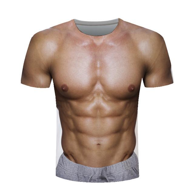 Men's T-Shirts camiseta hombreT-shirt men's cotton animal orangutan/gas monkey/Wolf 3D Printed Short-Sleeved T-Shirt Blouse #35