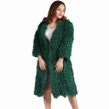 2017 new women lamb fur coat tan sheep coats short Sheep skin jacket 90cm Mongolia Fur