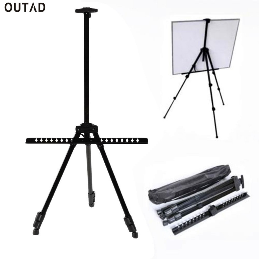 folding easel tripod display stand artist telescopic field studio painting adjustable furnishment outdoor indoor paint stand - Display Easel