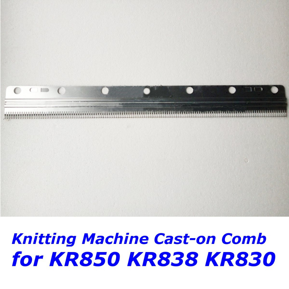 short Cast on Comb Set Spare Parts for Brother Knitting Machine KR850 KR838 KR830 24 inches (130 stitches)