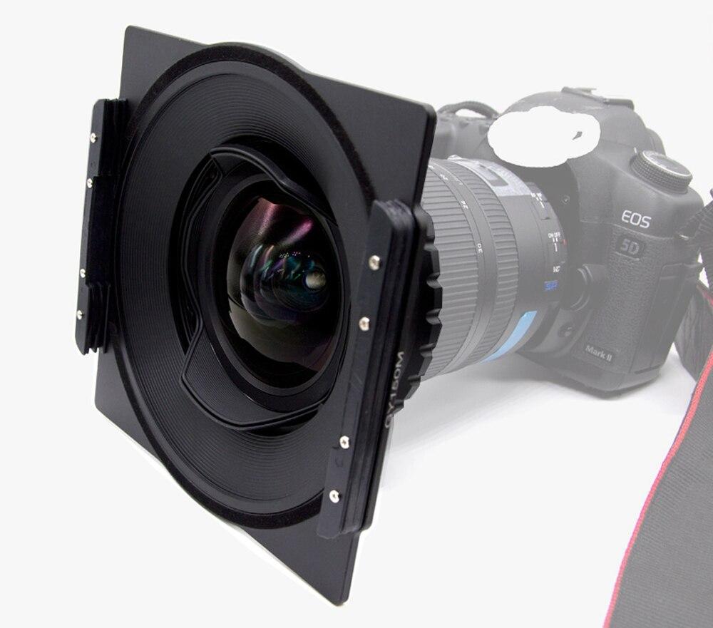 Aluminium 150mm Carré Filtre Holder Support Support pour Nikon 14-24mm f/2.8G ED Objectif Compatible pour Lee Hitech Haida 150 Filtres