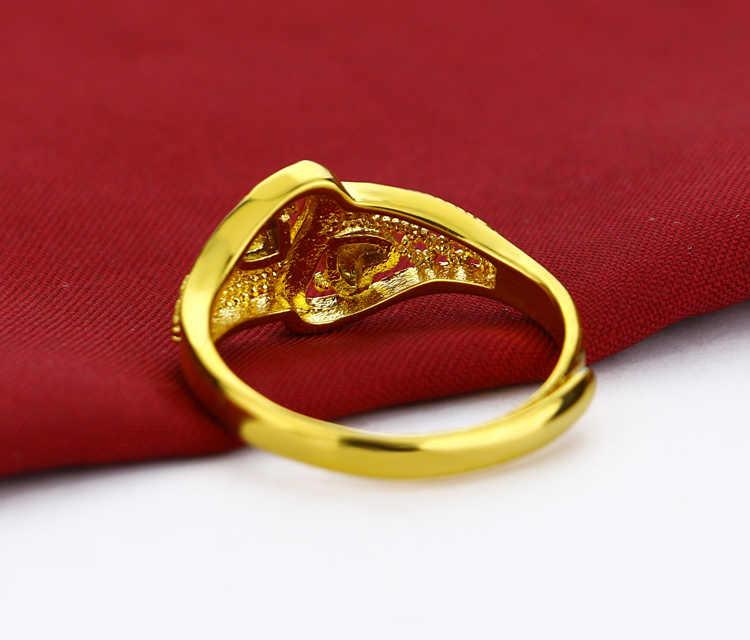84c26fe226ca6 Elegant female gold ring pattern carving design gold ring girl popular  jewelry does not change color birthday present bijoux