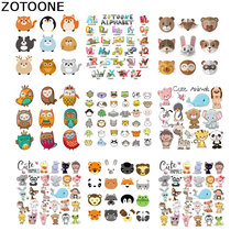 ZOTOONE heat transfer Cartoon Patches Iron on for Childrens T-shirt Dresses Washable Stickers applique clothes diy E