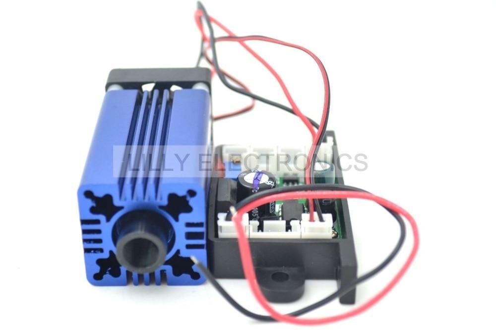 405nm 400mW Violet/Puple Laser Dot Module 12V+ TTL+ Fan Cooling +Long-time Working