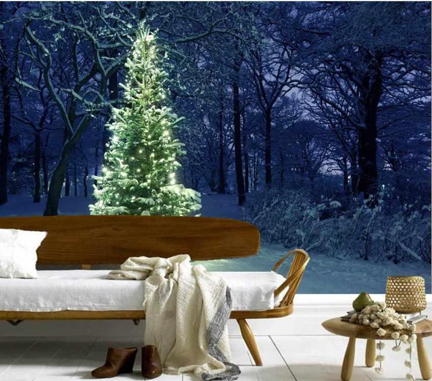 ที่กำหนดเอง3dภาพจิตรกรรมฝาผนัง,ต้นคริสต์มาสนางฟ้าไฟธรรมชาติกระดาษde parede,โรงแรมร้านอาหารห้องนั่งเล่นโซฟาทีวีผนังห้องนอนวอลล์เปเปอร์