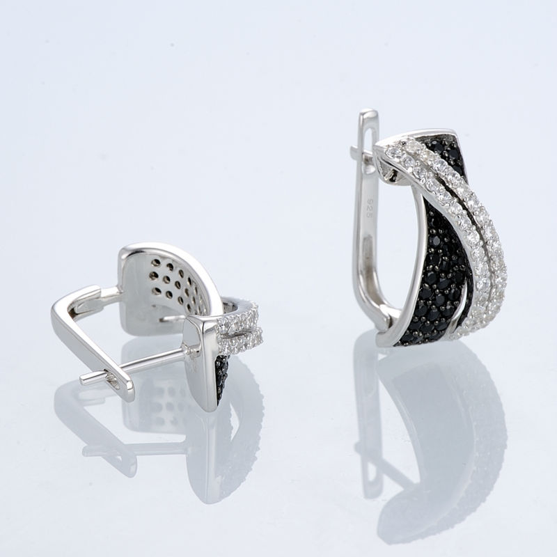 Silver Earrings E303189BSNZSL925-SV5-W