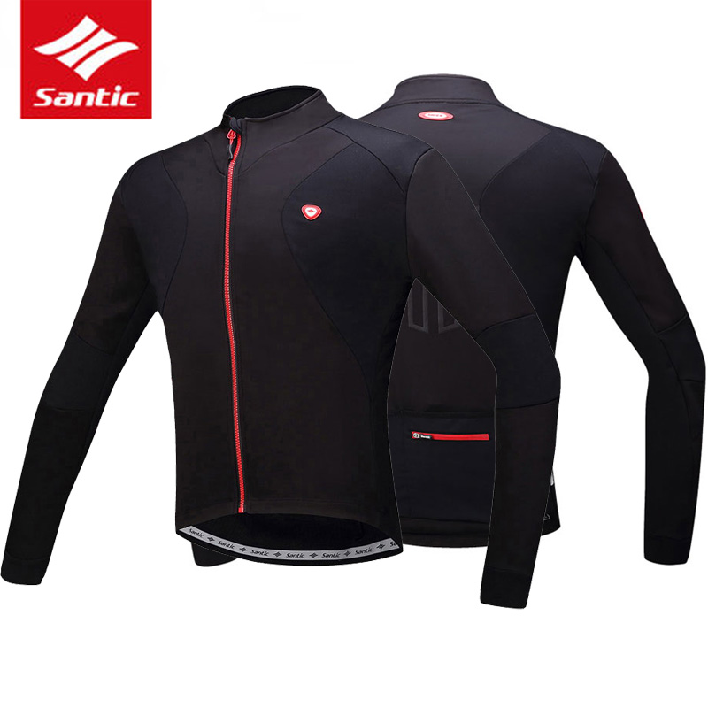124730cc9 Detail Feedback Questions about Santic Men Winter Thermal Fleece Cycling  Jacket MTB Bike Reflective Sports Coat Cycling Jersey Windproof Warm Bicycle  ...