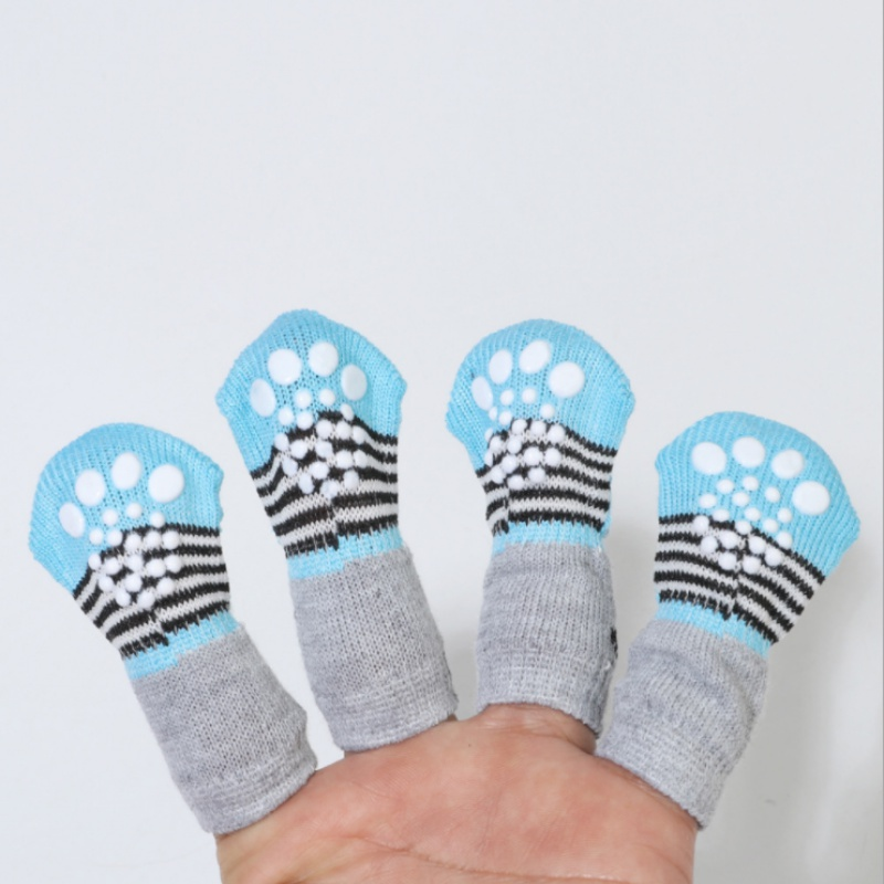 Pet Dog Socks Soft Cotton Anti-Slip Warm Antiskid Paws Dirts Away Easy Washing Indoor Dogs Cat Shoe Socks
