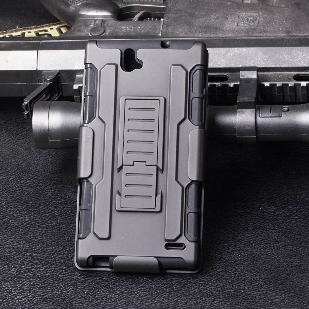 Heavy Duty Rugged Robot Future Armor Shockproof Phone Cover Case For ZTE Grand X Max Z787 / Grand X Max+ with Belt Clip Holster