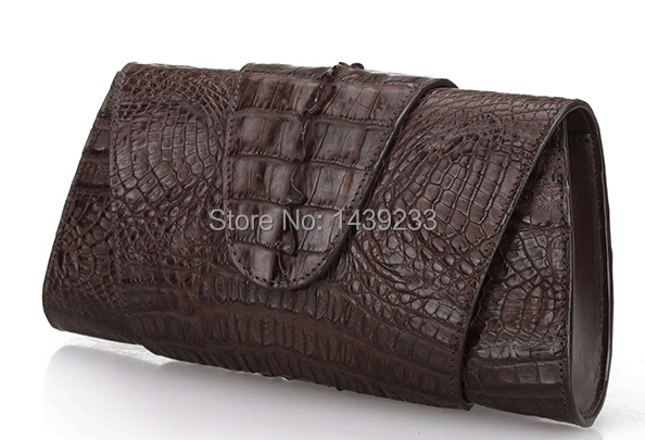 100% Alligator skin Genuine Crocodile leather tail skin women clutch wallets coffee brown women evening clutch wallet purse genuine leather women wallets crocodile 3d head fashion clutch purse wallet alligator pattern long wallet women carteira