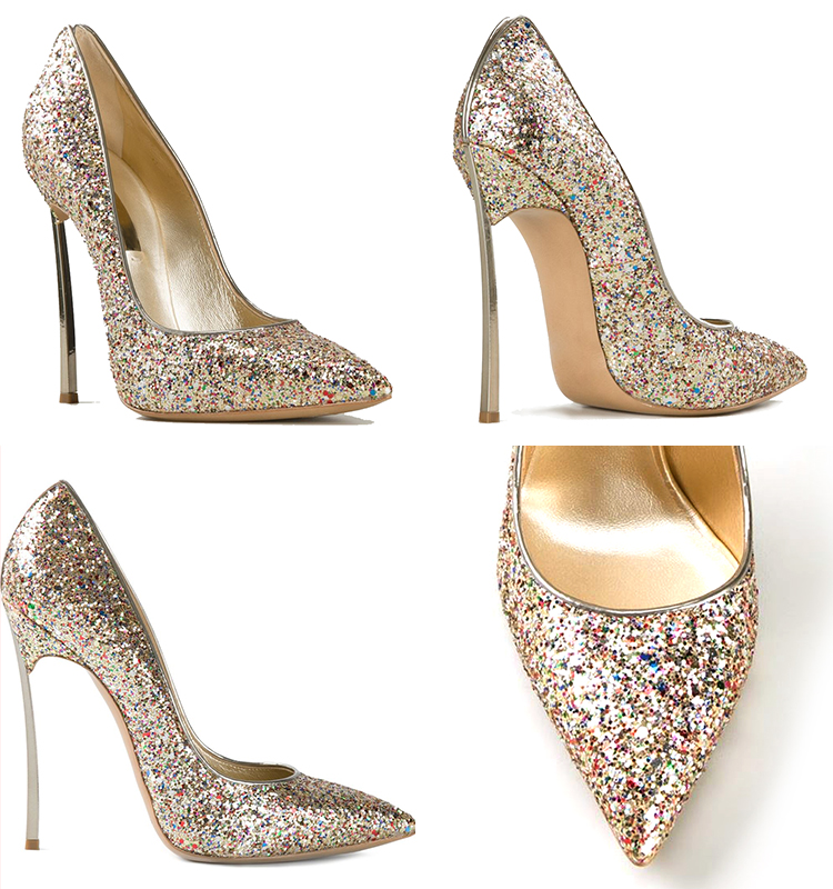 Aidocrystal sexy glitter 2017 new arrival women pumps shoes very thin heel wedding dress shoes for bridal gold red silver black