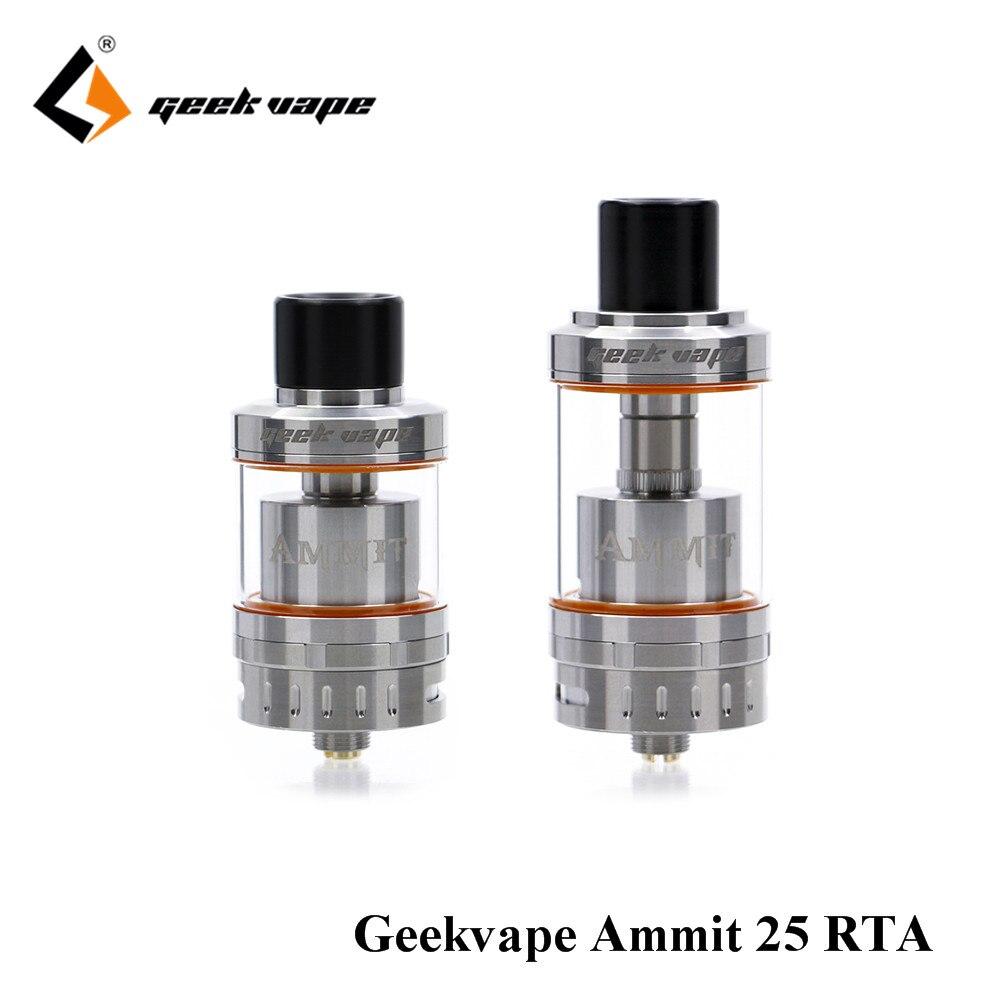 original GeekVape Ammit 25 RTA upgrade ammit dual coil RTA tank 3D airflow system huge font