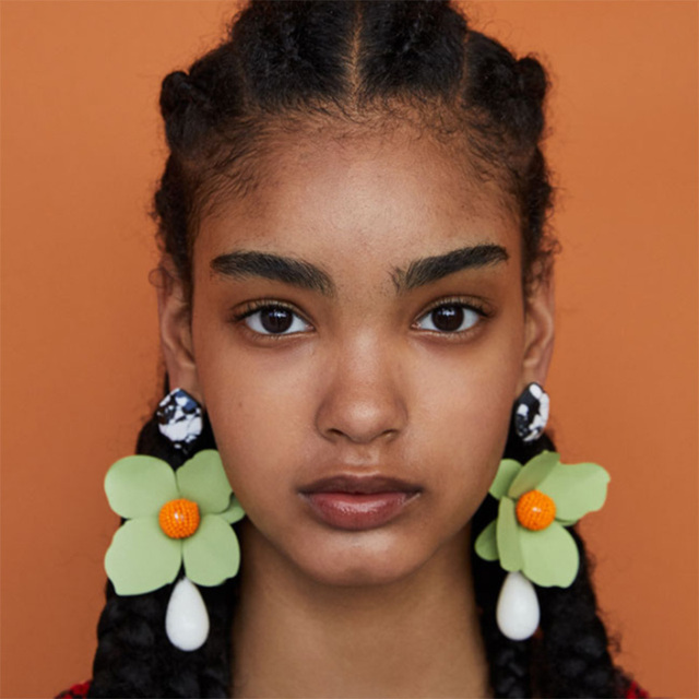 Fashion Big Flowers Drop Earrings Jewelry Earrings for Women Dangle Pendant Statement Bohemian Wedding Earrings Gift