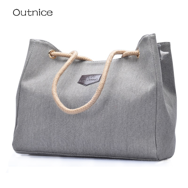 4c30bc050456 kabelky women s handbag designer high quality women canvas large tote hand  bags hemp rope handle cheap online shop